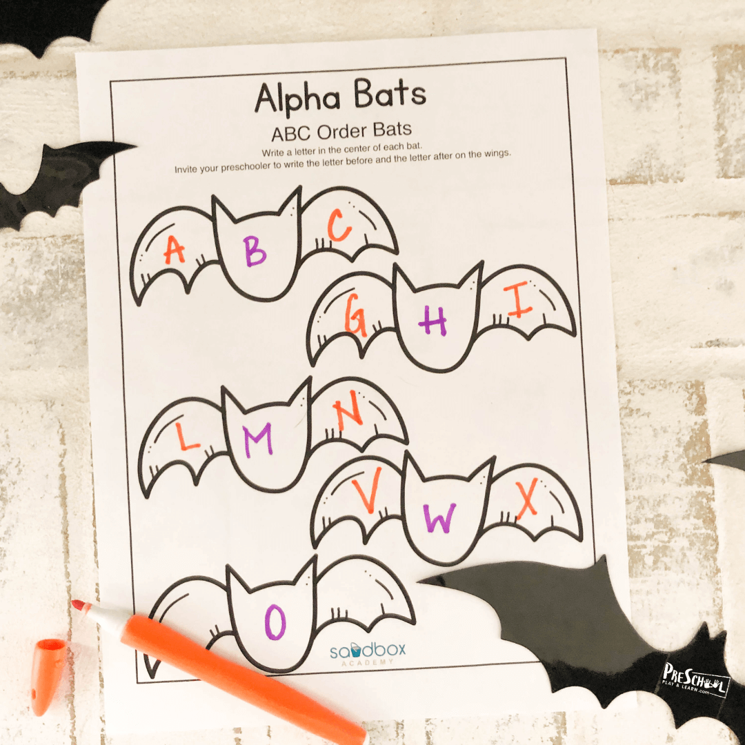 halloween what comes before and what comes next free printable