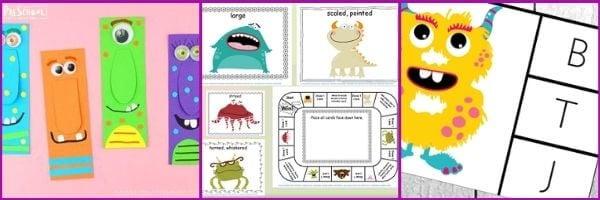 Preschool Monster Literacy activities