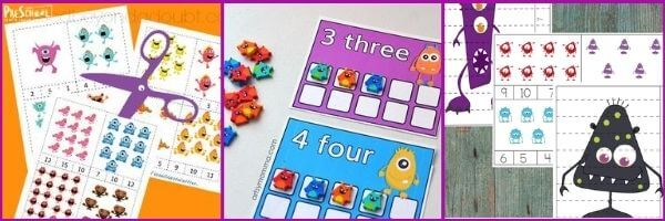 Preschool Monster Math Activities