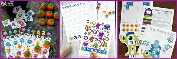 Monster Printables for Preschoolers