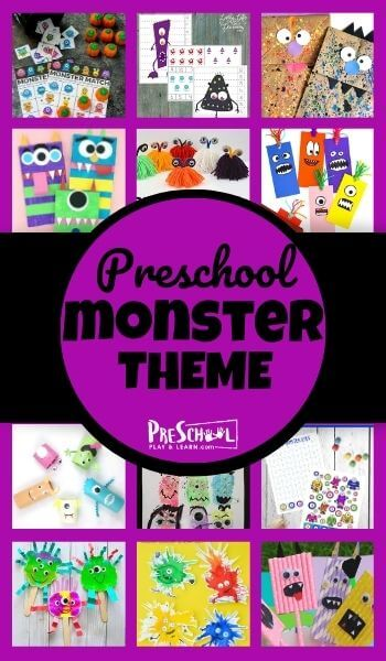 Learn all about monsters with your preschooler using this Monster Preschool Theme! Your kids will love these engaging activities, printables, and crafts.