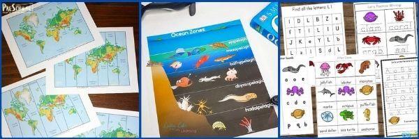 Ocean Printables for Preschoolers