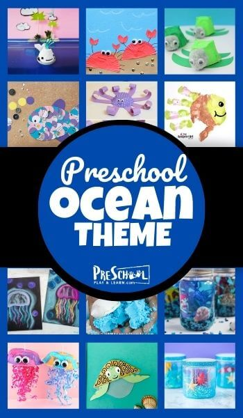 Dive under the sea to learn about the amazing animals that live in the ocean from fish to whales, to octopus, sharks, and more! Study oceans with your preschooler using this Ocean Preschool Theme! Your kids will love these engaging ocean activities, free ocean printables, and ocean crafts in this preschool ocean theme. This fun ocean ideas are perfect for pre-k, toddler, kindergarten, and first grade students too.