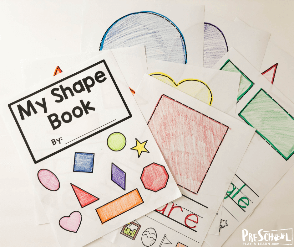 Our my shape book for preschoolers is such a fun way to introduce and work on shapes with your preschoolers. Simply download shape book for preschoolers pdf file to help make learning preschool shapes fun with a free printable. l This shape book is great for toddler, preschool, pre-k, kindergarten, and first grade students.