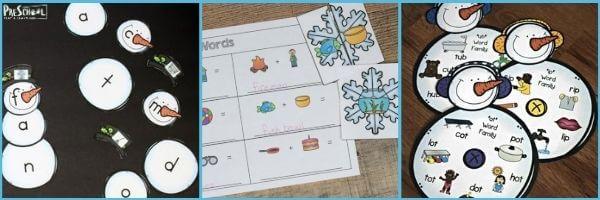 Preschool Snow Literacy activities
