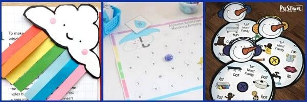 Weather Literacy Activities for Preschoolers