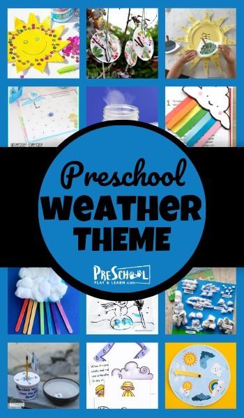 Preschoolers are fascinated by weather and all the changes it makes. And this exciting weather preschool theme is just what you need to teach a weather theme with pre-k, kindergarten, and first grade student including a variety of ideas for weather themed literacy, math, and weather crafts!