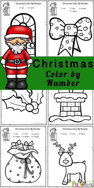 Learning to count from one to six is so much fun with these exciting new and free Christmas Color by Number worksheets. TheseChristmas Worksheets make it fun to practice number recognition while strengthening fine motor skills with these free preschool worksheets perfect for celebrating the holiday season in December. These Christmas color by number printables are great for toddler, preschool, pre-k, and kindergarten age children. Simply download the pdf file with theChristmas Math activity and you are ready!