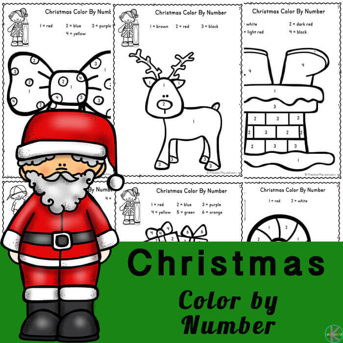 FREE Christmas Color By Number