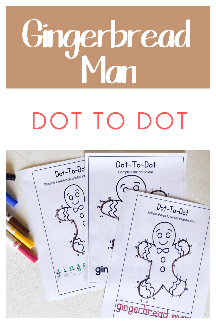 Kids love doing connect the dots worksheets! This free printable connect the dots activity is perfect for December with the free Gingerbread Man Worksheet. This Gingerbread Man Activities for Preschoolersis such a fun way for preschool, pre-k, and kindergarten age students to practice counting this holiday season.