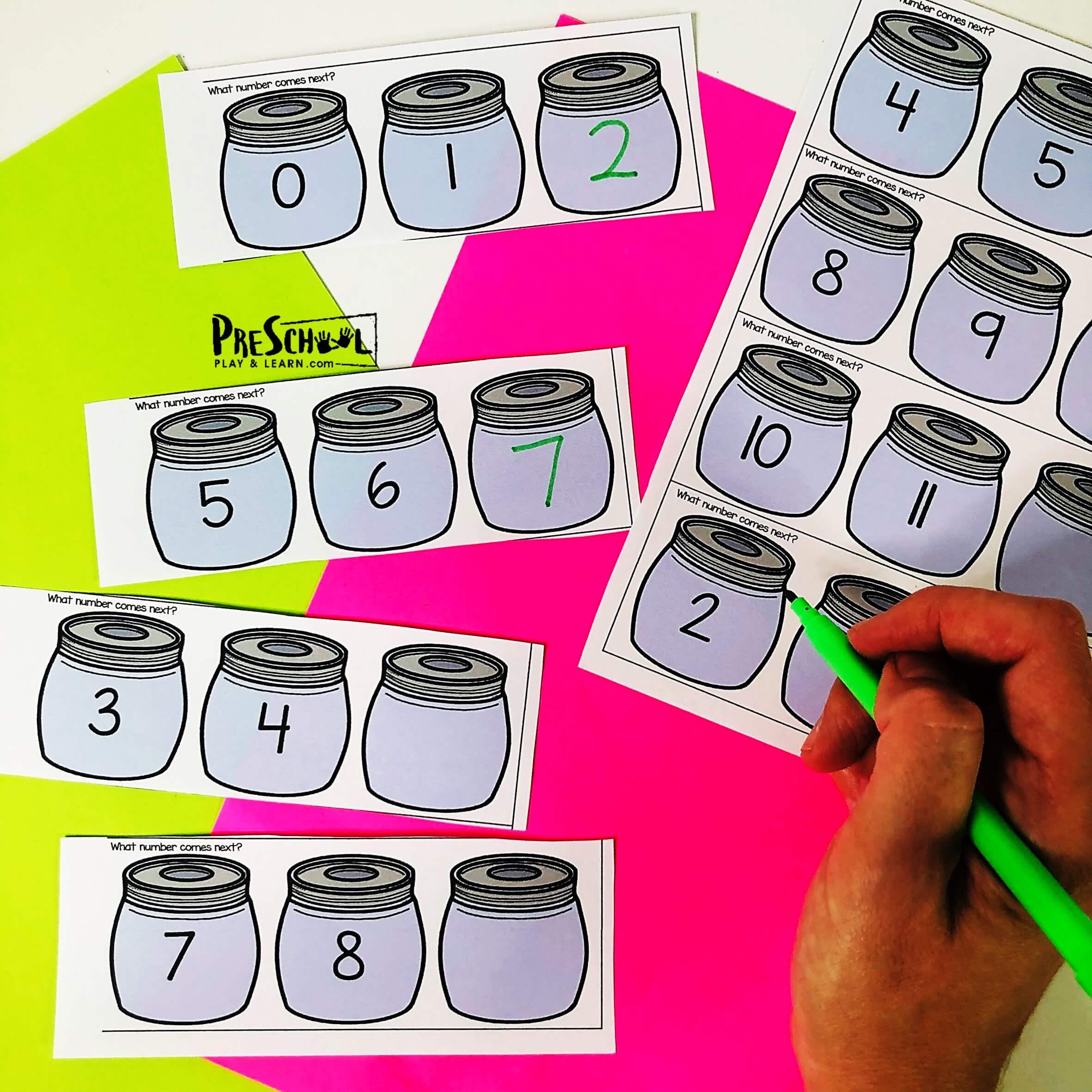 Number Order Printable