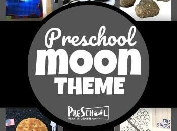 Learn all about the moon with your preschooler using this Moon Preschool Theme! Your kids will love these engaging activities, printables, and crafts.