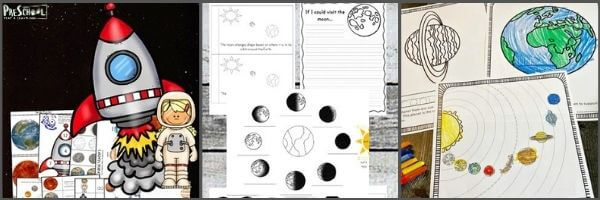 Moon Printables for Preschoolers