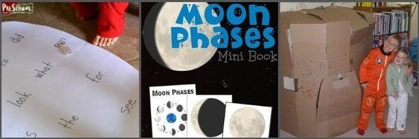 Preschool Moon Literacy activities