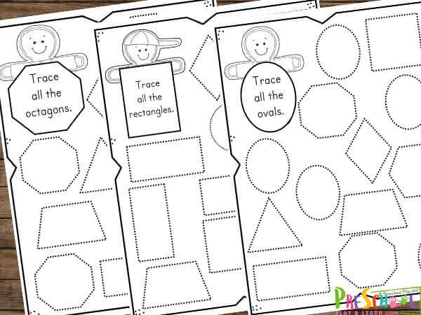 shape activities for preschool, kindergarten, and first grade students