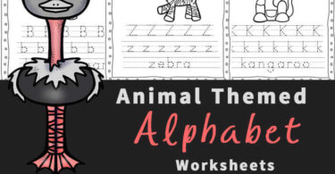 Make learning alphabet letters fun with these free printable, Animal Alphabet Worksheets for Preschoolers. These abc worksheets help preschool, pre k, kindergarten, and first grade students work on letter recognition while learning about different animals. Each of these alphabet worksheets practicing identifying both upper and lowercase letters, alphabet tracing, and fine motor skills too! Download pdf file with animal printables and get ready for no prep free preschool worksheets.