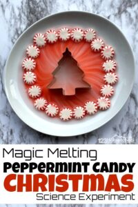 peppermint candy Christmas Science Experiment