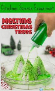 melting Christmas tree Christmas Science Experiments