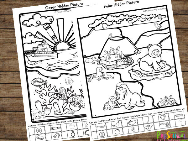 Free printable hidden pictures worksheets