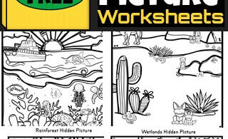 Toddler, preschool, pre-k, and kindergarten age kids will love these fun and free hidden picture worksheets. Children will have fun improving their visual perception and discrimination while strengthening fine motor skills with these fun preschool activity sheets. Download pdf file withhidden pictures printable pack with 5 pages to play I Spy games with!