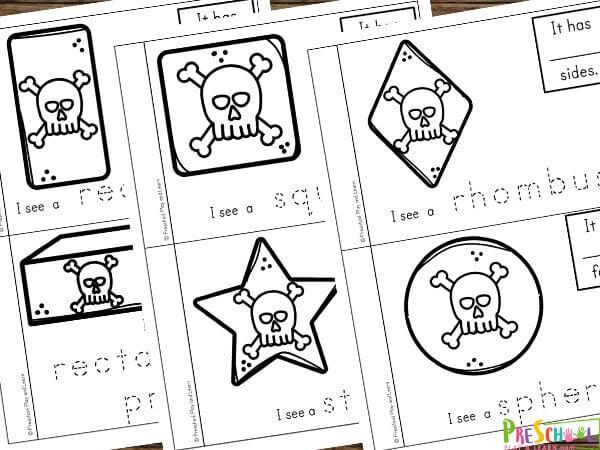 free printable Shape Reader for preschoolers, kindergartners, and first graders