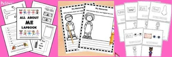 Preschool All About Me Literacy activities