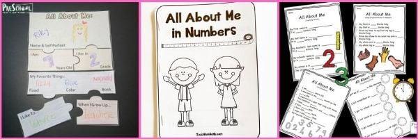 Preschool All About Me Math Activities