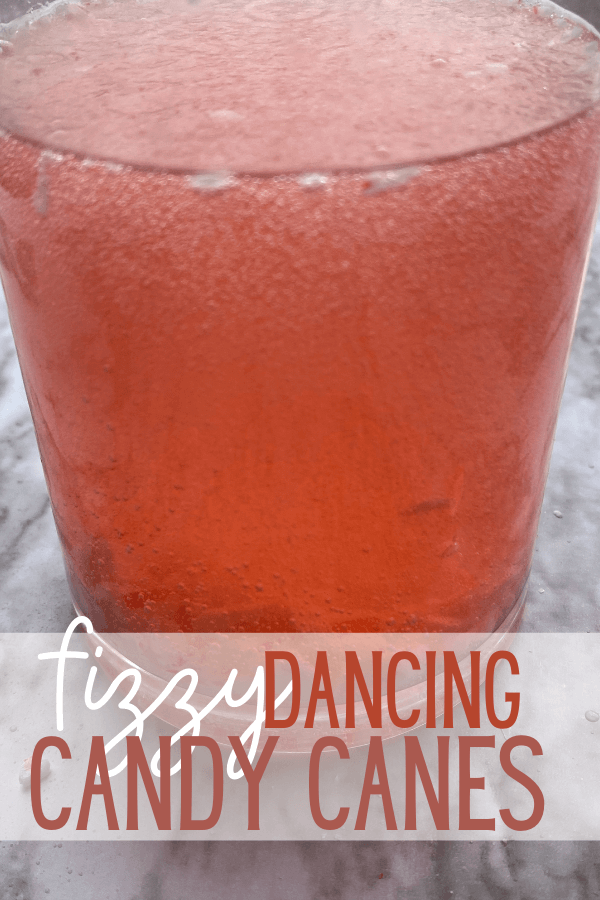 Dancing Candy Cane Science is such a fun Christmas Science experiment to try with toddler, preschool, pre-k, kindergarten, and first grade students. This simple science project uses baking soda and vinegar for a silly chemical reaction that will make Chemistry fun for kids of all ages!