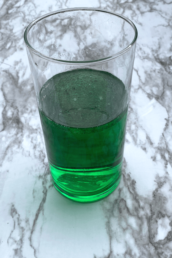 green science experiment for December
