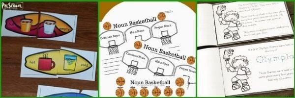 Preschool sports themed printables