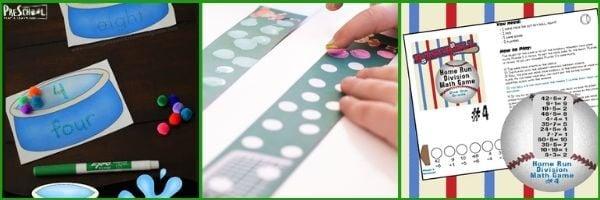 Preschool Sports Math Activities: