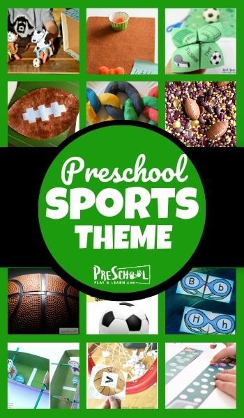 Study sports with your preschooler using this Sports Preschool Theme! Your toddler, preschool, pre-k, and kindergarten kids will love these engaging activities, printables, and crafts in thissports lesson plan for preschool