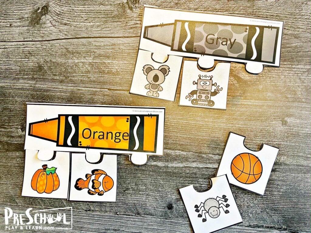 Color activities for preschool printable