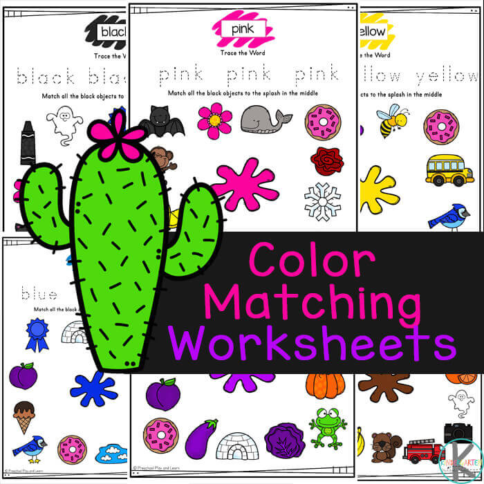 Young children will have fun learning eleven different colors with these fun and free Color Matching Worksheets. These color printables for preschool are a fun way for toddler, pre-k, and kindergarten age kids to work on color recognition with lack, blue, pink, red, orange, purple, green, yellow, brown, white, and gray.. Simply download pdf file with Colour Matching Worksheets and you are ready to learn and play.
