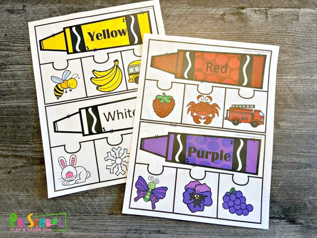 Preschool Color Activities Free