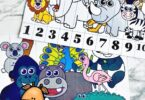 Number puzzles are a super simple and extra fun way for children to practice counting and number order. These Zoo Animals Number Puzzles set focuses on the numbers 1-10. Simply download pdf file with zoo printables and you are readyto practice counting to 10 with toddler, preschool, and pre-k students.