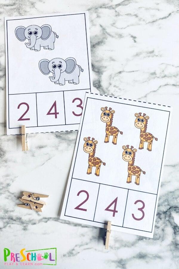 Zoo Animals Printables