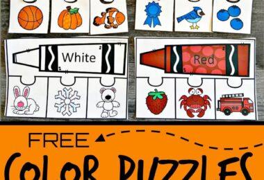 color printables for preschool