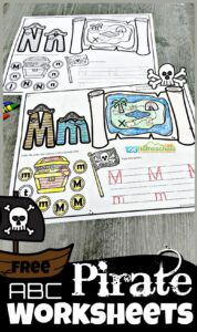 pirate Alphabet Worksheets