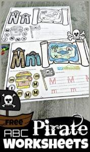 pirate Alphabet Worksheets