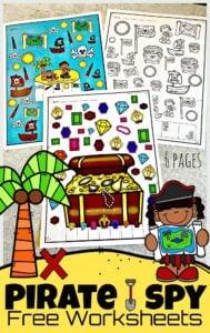 Pirate I Spy Worksheets