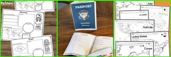 Around the World Printables for Preschoolers