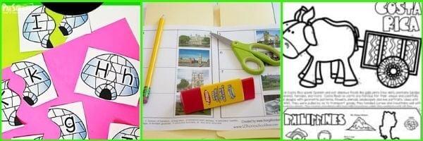 Preschool Around the World Literacy activities