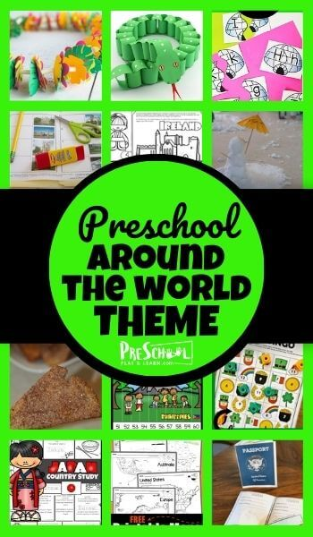 Study the countries around the world with your toddler, preschool, pre-k, kindergarten, and first graders using this Around the World Preschool Theme! Your kids will love learning math, science, and more with these engaging around the world activities for preschoolers, printables, and crafts.