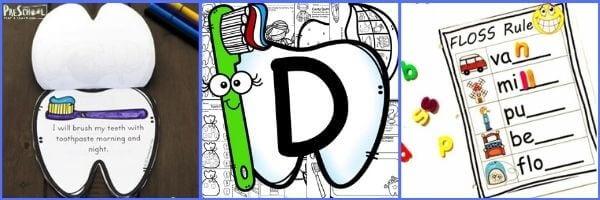Preschool Dentist Literacy activities