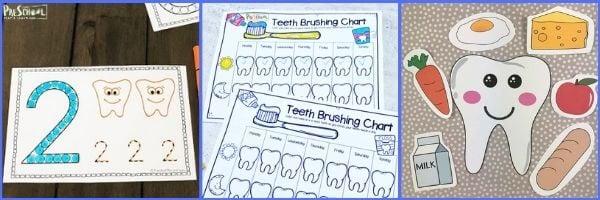 Preschool Dentist Math Activities