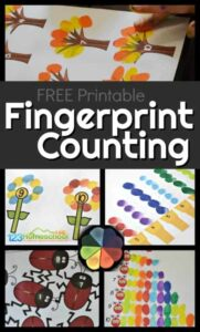 Super cute and CLEVER Fingerprint Counting Printables