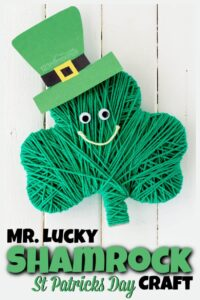 mr lucky shamrock craft for st patricks day