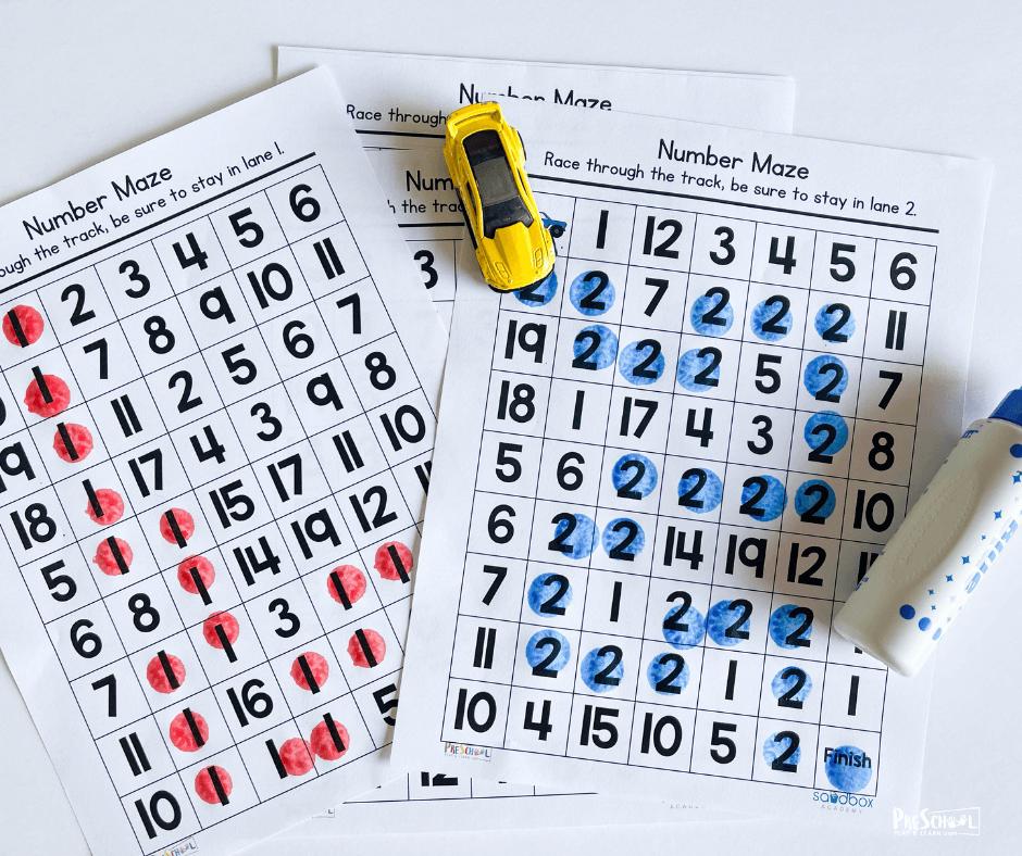 number activity for preschool