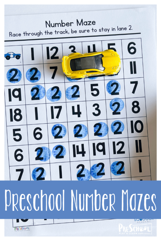 If you are looking for a fun number activity for preschool kids look no further than these free printable numbers mazes. Mazes are my daughter's favorite. Plus, there has to be a reason why they are on every single child's menu, they are timeless and universally loved. This numbesmath games for preschoolers is perfect for working on numbers 1-5 with toddler, preschool, pre-k, and kindergarten age students.  Simply download pdf file with number activity for preschoolers and you are ready to play and learn!